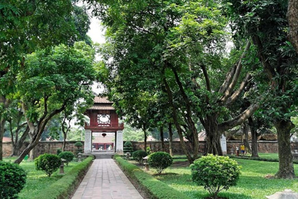 Temple of Literature-The first university in Vietnam.