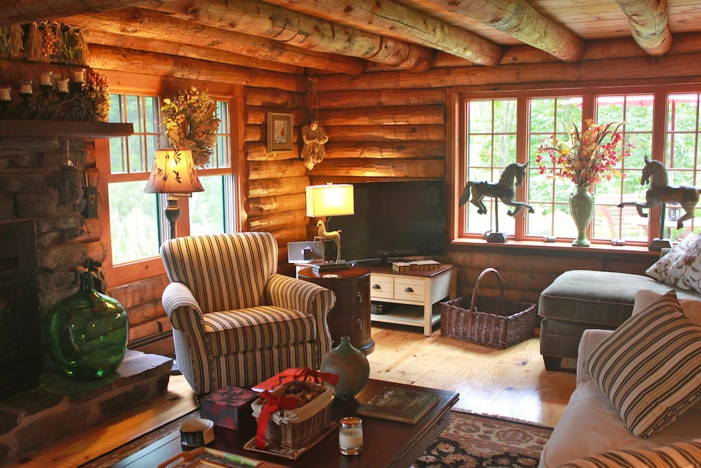 The rooms are rustic but also luxurious