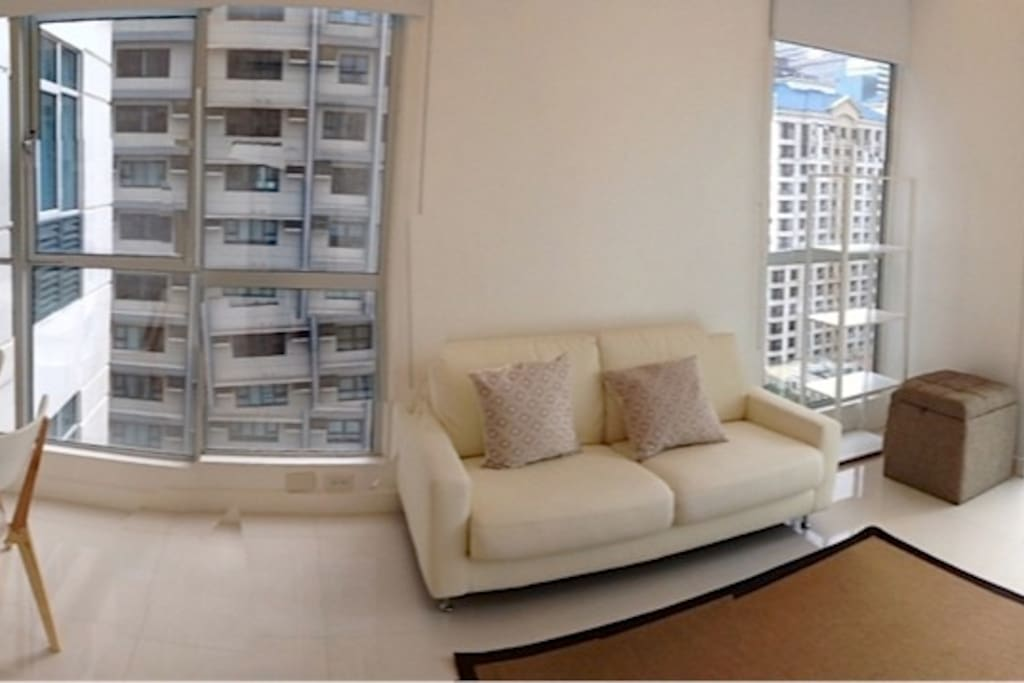Panoramic view of living to dining room