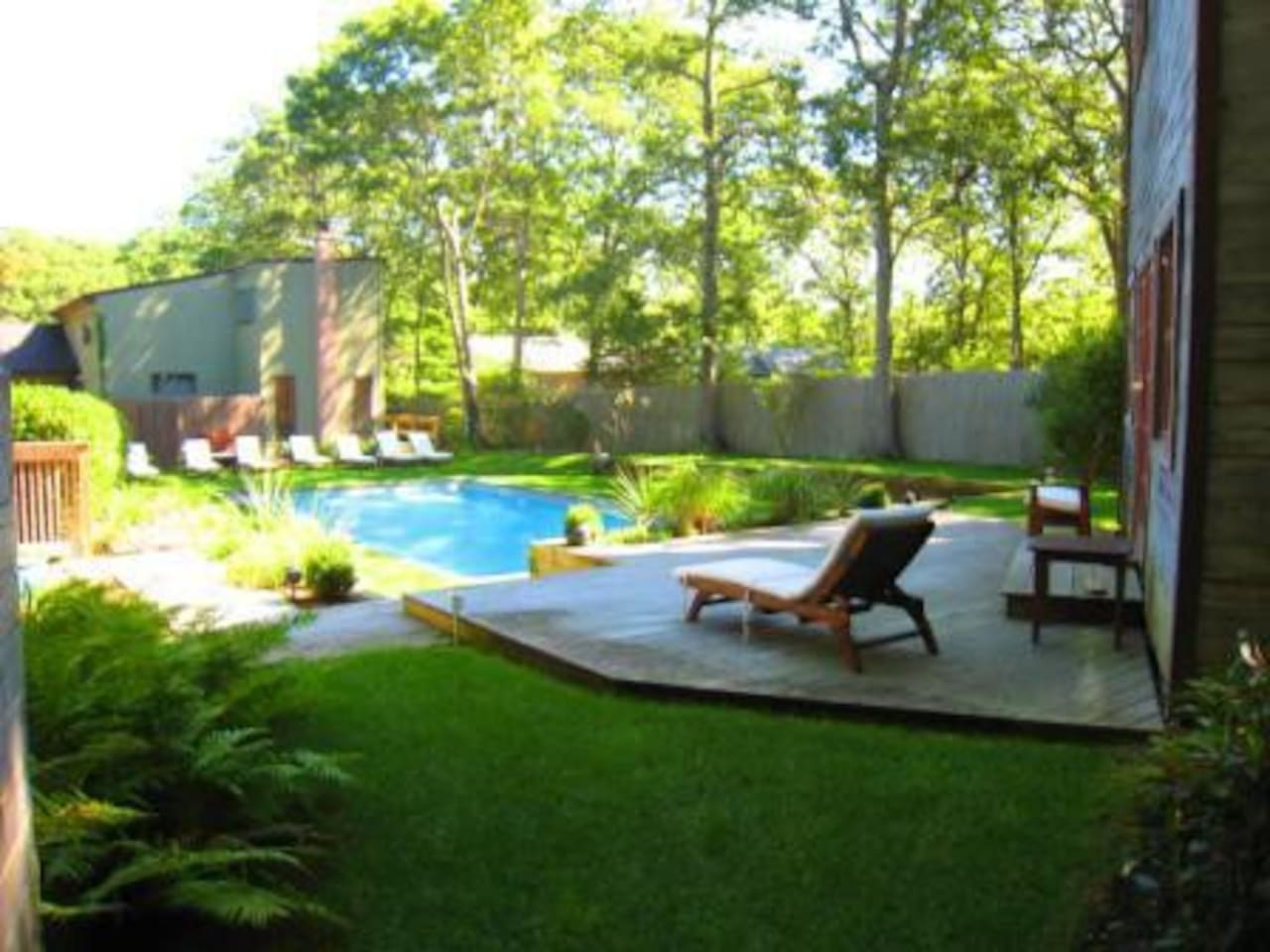 Enjoy the landscaped and sun filled yard.