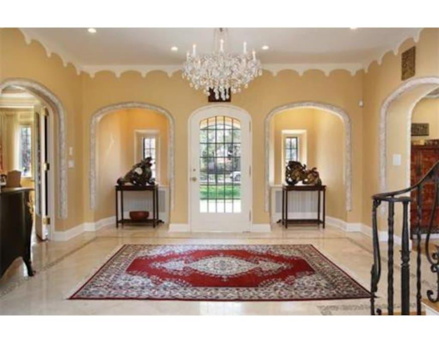 Foyer looking toward front door