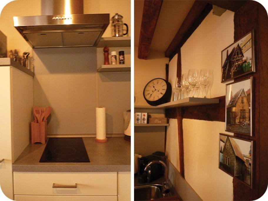 The kitchen is fully equipped and has a TASSIMO coffee machine!