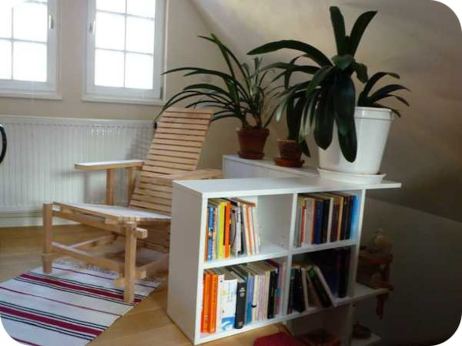 Second floor reading area - if you are interested in the German Classics :)