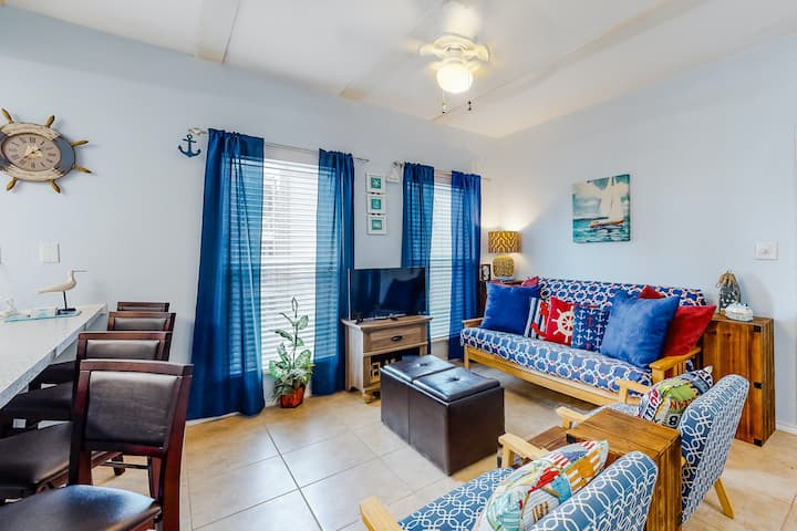 Colorful, Dog-Friendly Getaway w/ a Full Kitchen, Free WiFi, & a Shared Pool