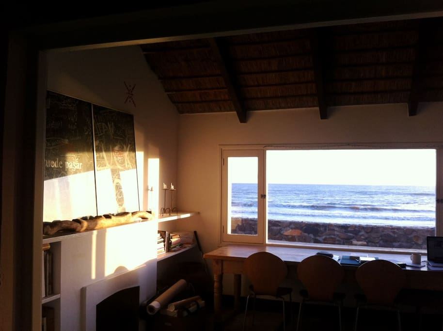 The afternoon sun and sea…from the living room...