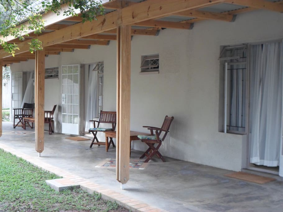 Private verandah outside rooms 1, 2 and 3