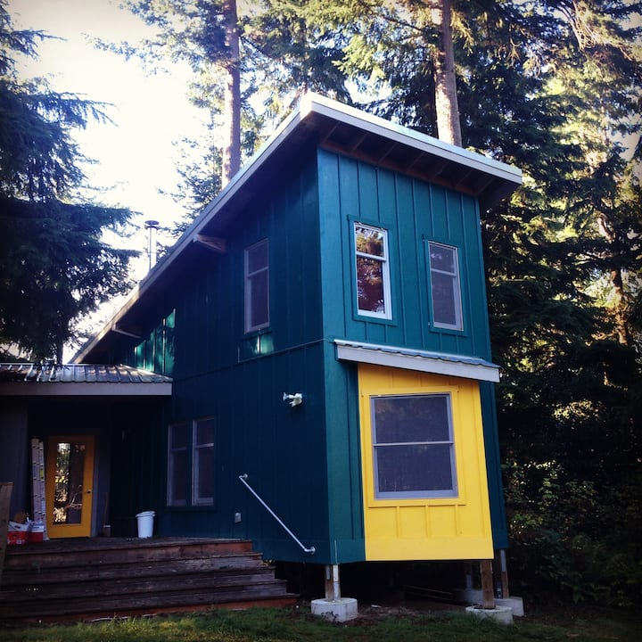 Artist Guest House on Langley forested ridgetop