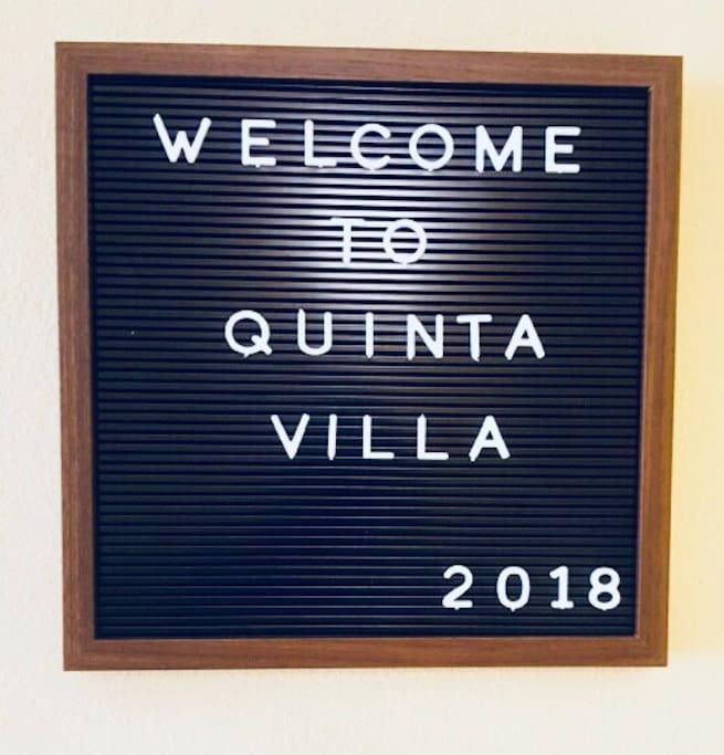 Welcome to Quinta Villa!