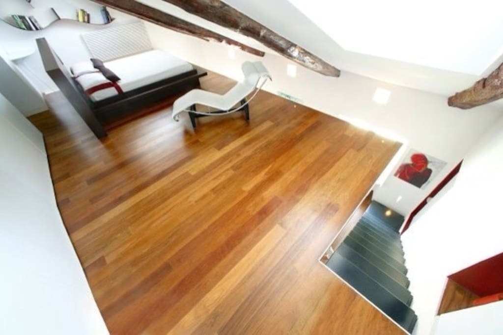 the bedroom and the stair