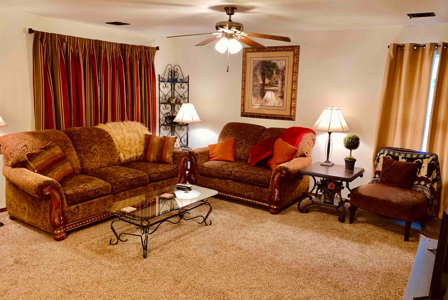 Beautifully furnished and comfortable very large living room.