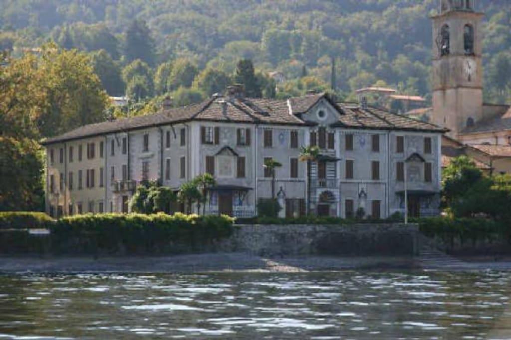 Villa Trotti from the lake