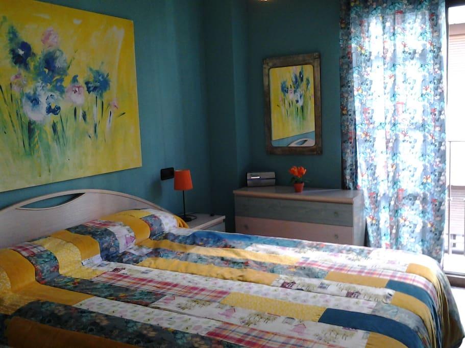 Double bedroom aside Postiorguet Beach.
