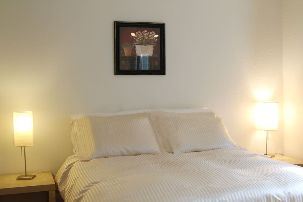 1-Bedroom with Queen Bed and Duvet cover for each guest