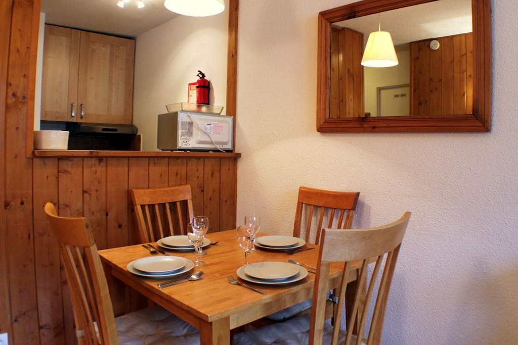 Dining and kitchen space
