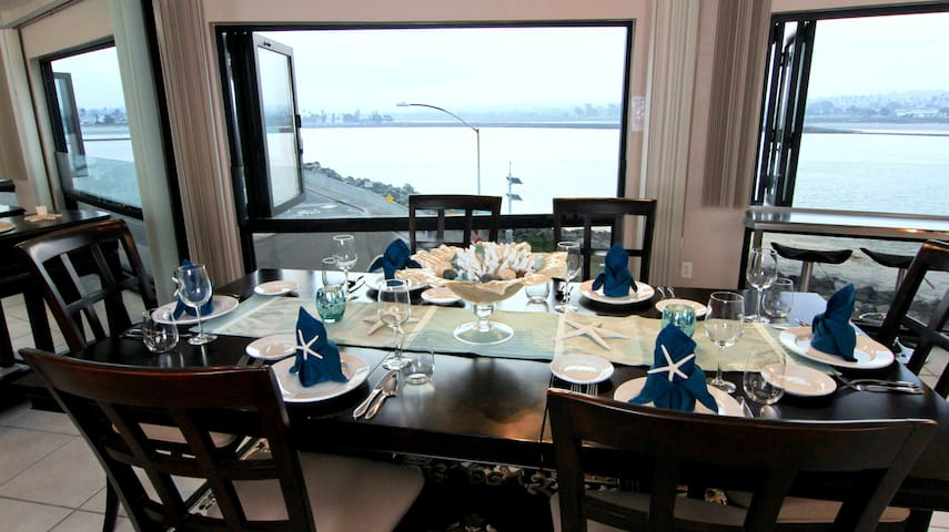 Dining Room with a View of the Sea