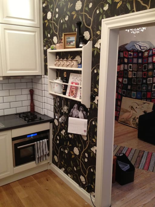 Electrical micro/oven and gas stove.