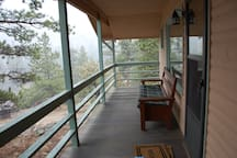 21 x 7 covered porch with great unobstructed mountain views