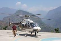 helipads closeby for Kedarnath Yatra