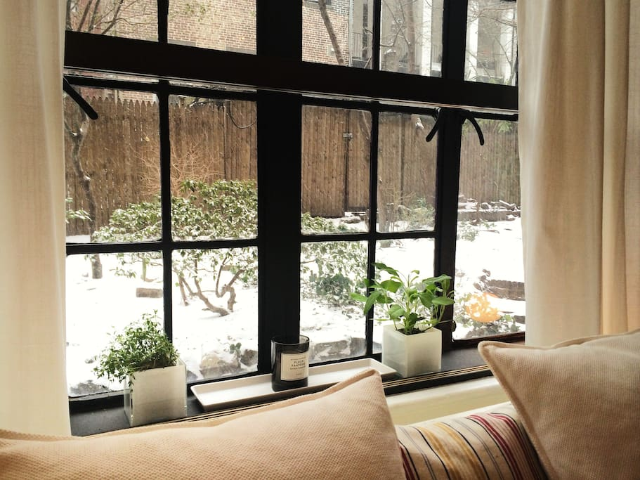 Window view - a great place to awake & also relax.