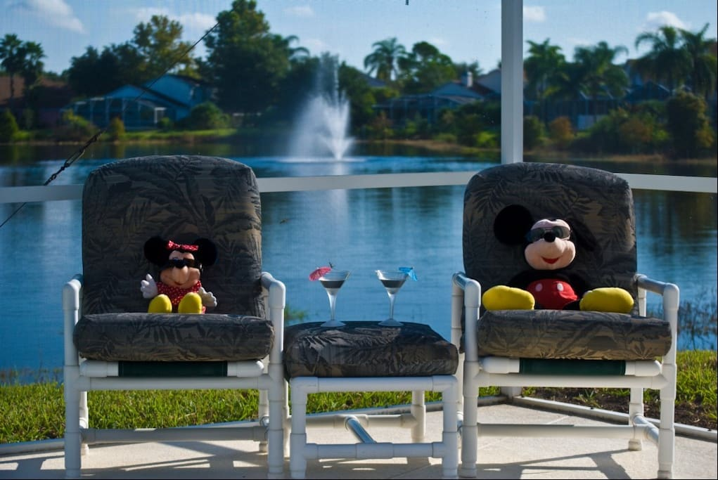 "Two of our ""Regular""guests enjoying the Florida sun"