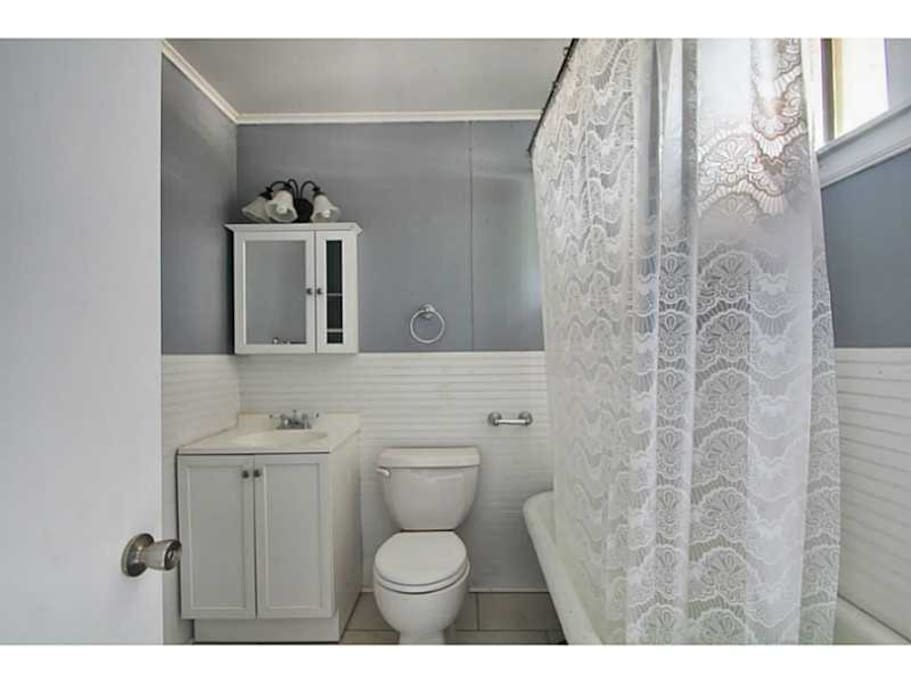 Your bathroom with a New Orleans-style clawfoot tub.