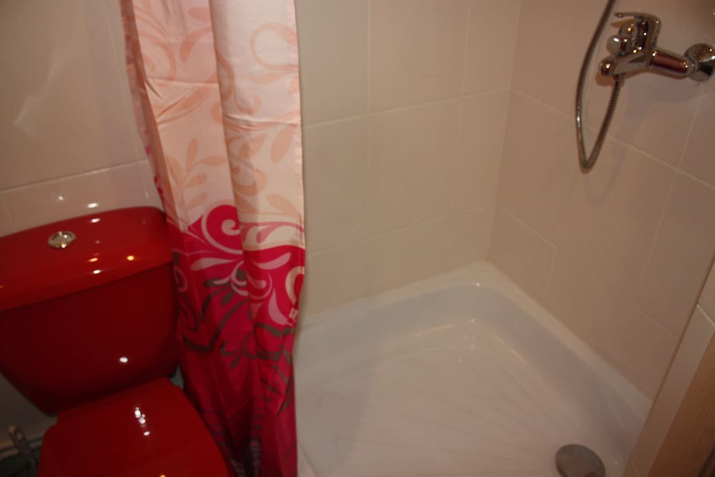 new shower and WC appliances