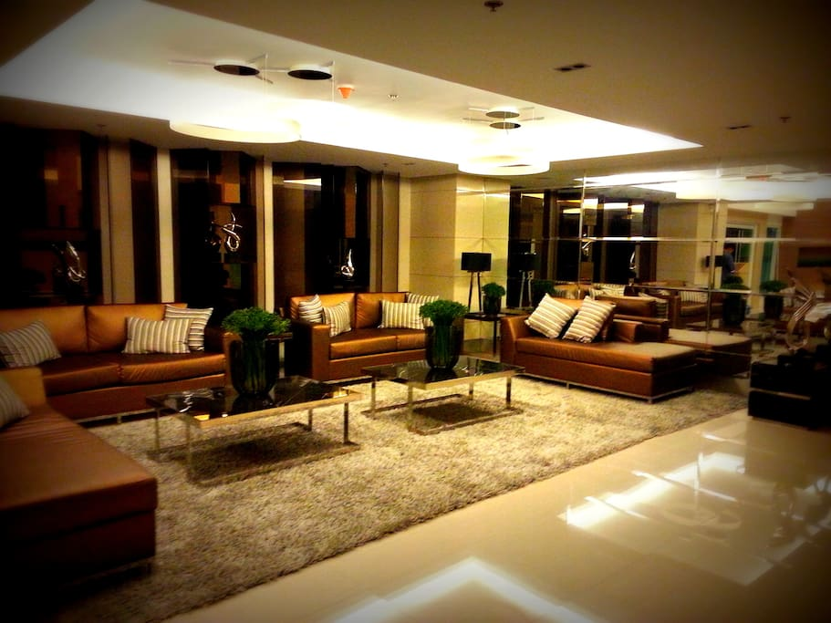 building lobby lounge area. Air conditioned