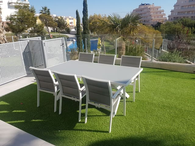 Dining table in the garden