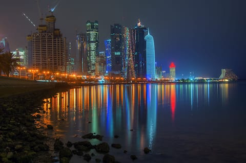 COLOSSAL 1 BR NEAR DECC IN WEST BAY, DOHA