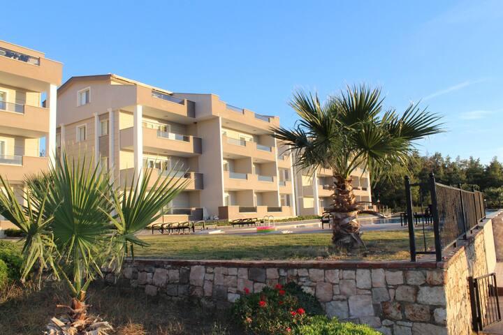 Recent duplexappartement voor 6 personen in Akbük