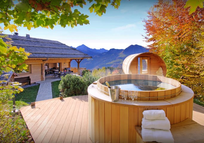 Relax in the hot tub or sauna at this unique 5 star chalet - OVO Network