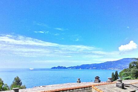 Trilocale vista mare, spiaggia e box privati, wifi - Zoagli Genova - Byt