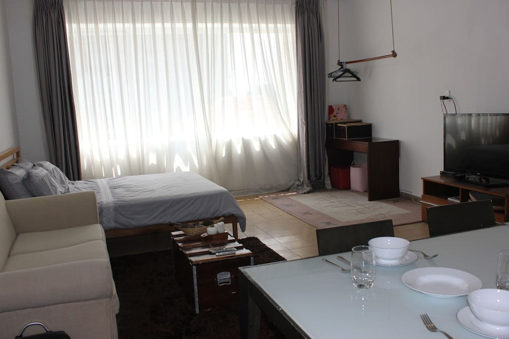 This apartment is actually 2 studios in one shared apartment. Comfy cozy for your convenient stay in Saigon/HCMC.