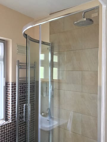 Newly refurbished shower