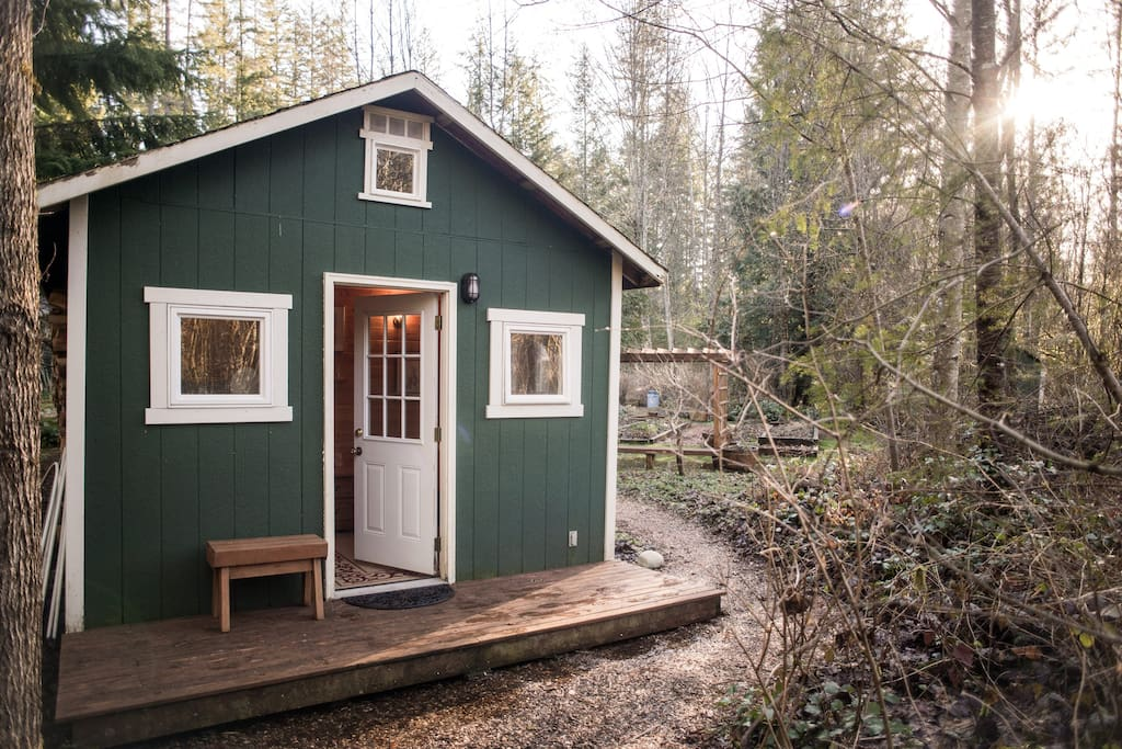 Front of Tiny Cabin