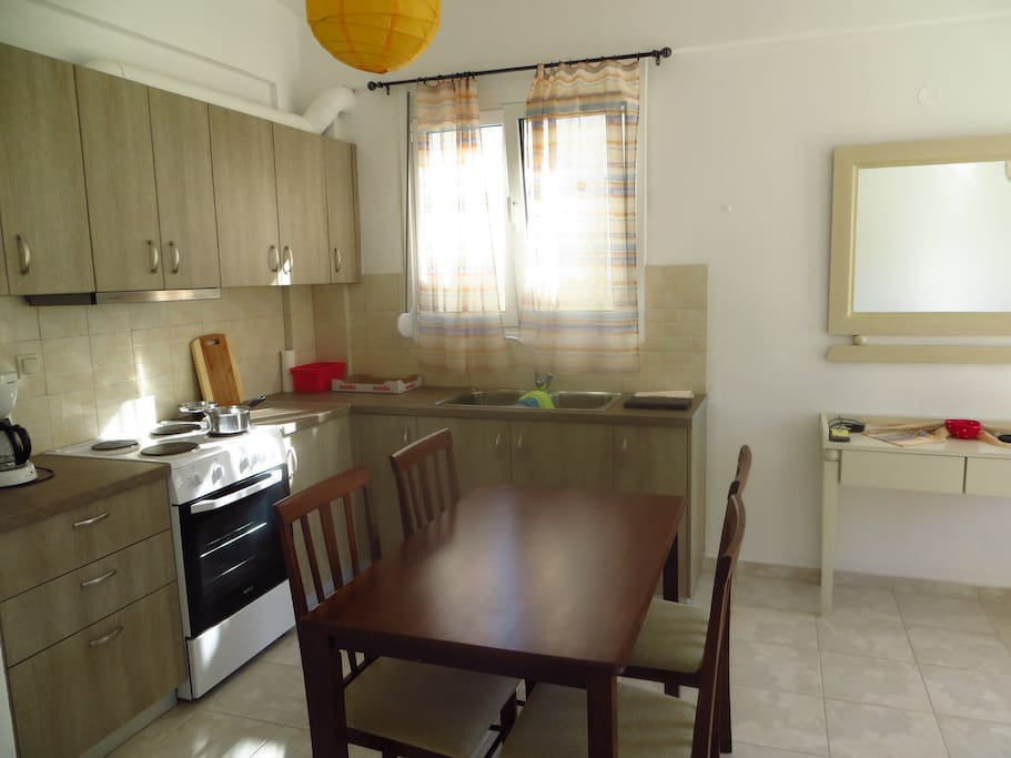 View at kitchen with all amenities, coffee maker and water kettle