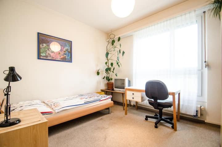 Zimmer, 10km von Basel, ohne zMorge