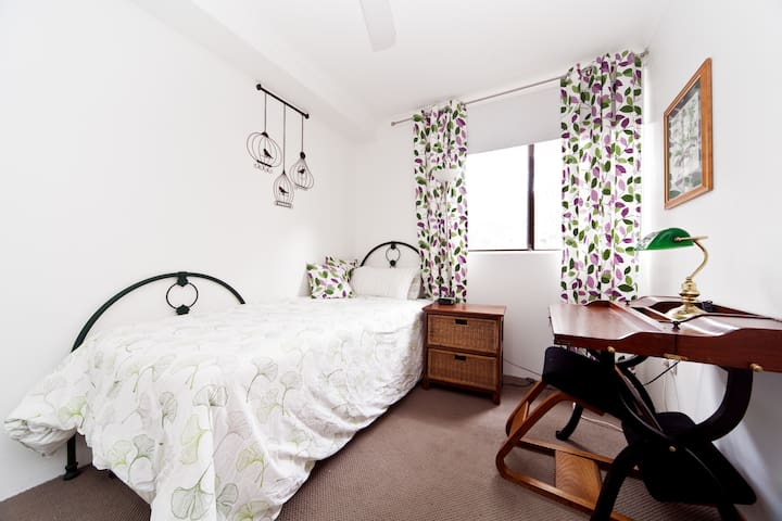 Your room can be made up to have one king-single bed with a desk, or as two king single beds or as one king size bed.
