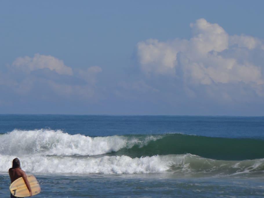 Surfer bei uns am Strand