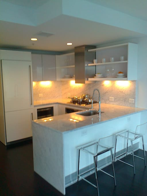Complete marble kitchen