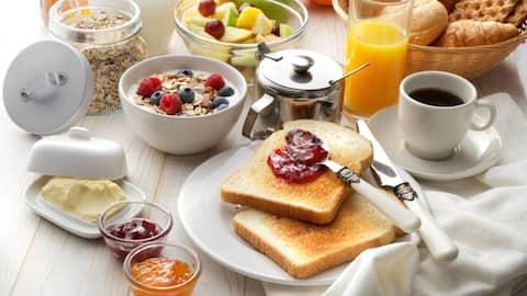Toppen frukost, rum och privat badrum