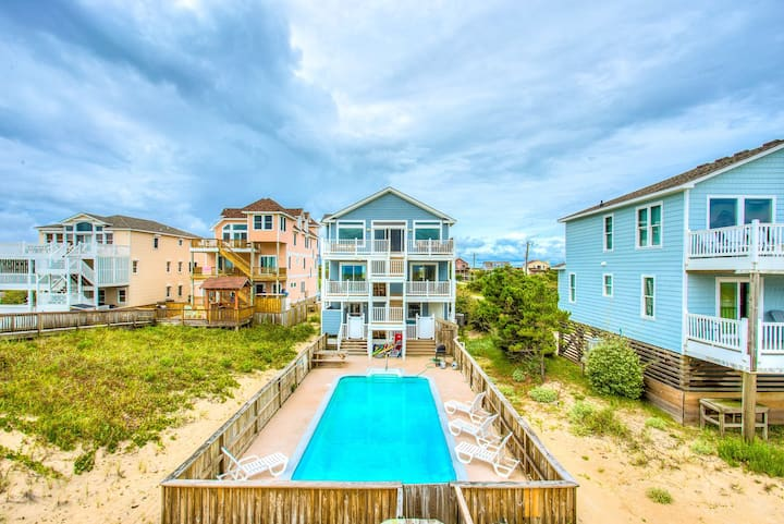7081 Southern Breeze * Oceanfront * Dog Friendly * Pool & Hot Tub