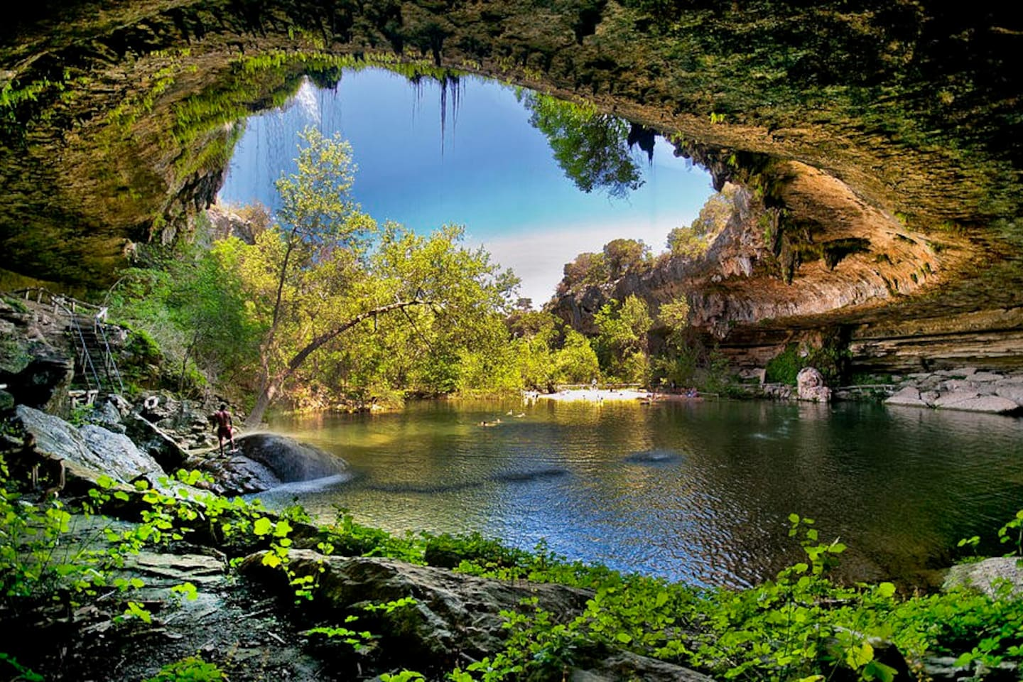 World famous Hamilton Pool, only 8 minutes away.