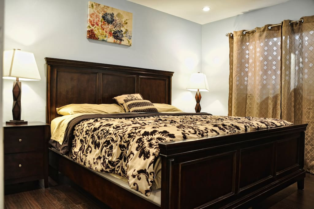 Master bedroom and brand New king bed