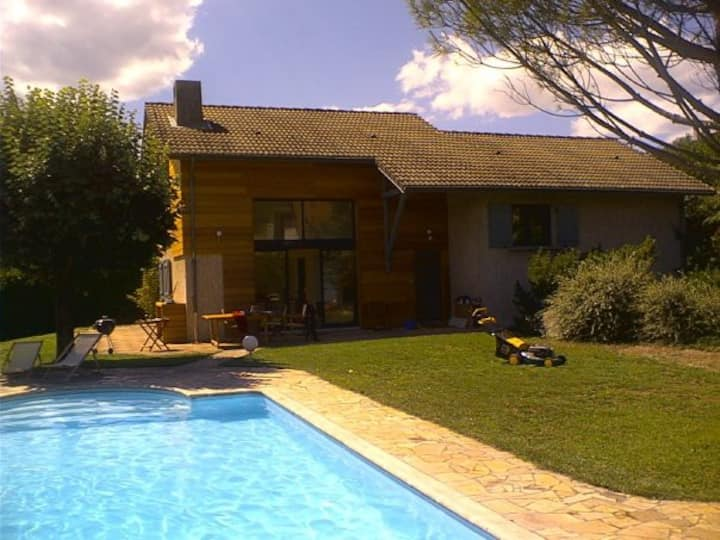 House - in the Alps close to Grenoble - with pool
