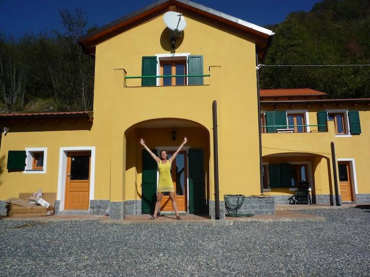beautiful house overseeing Liguria