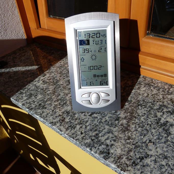 temperatuur op 31 december op balkon in de zon