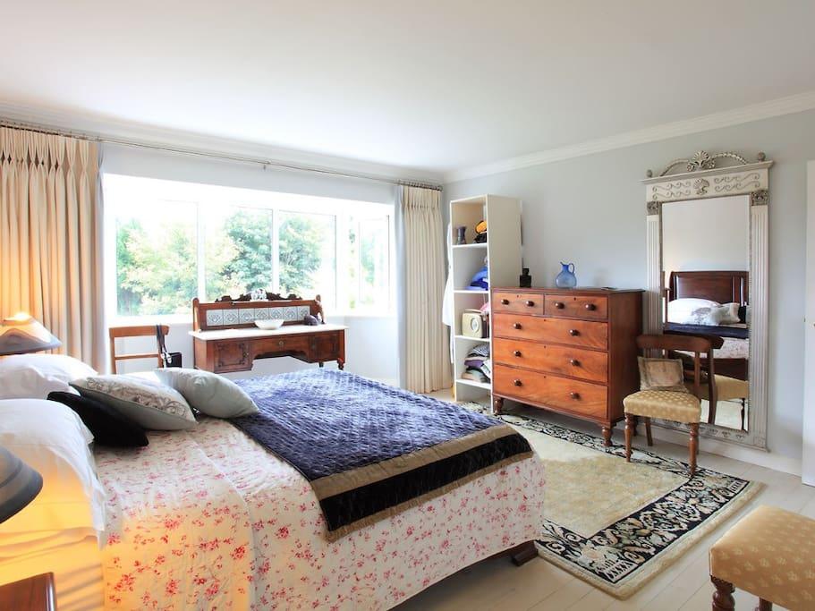 The Master bedroom is heaven.