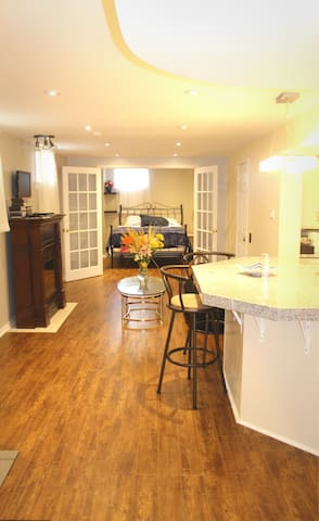 Beautiful basement apartment with own kitchen