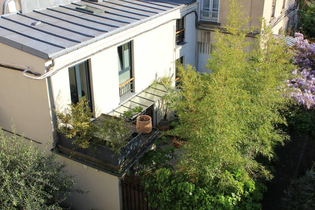 Jolie maison familiale avec jardin impasse priv e maisons louer paris le de france france - Location maison jardin ile de france colombes ...